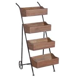 Loft 4 box unit with wheels, 122 x 49 x 67cm
