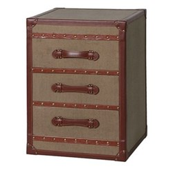 Bedside trunk with 3 drawers 65 x 48 x 48cm