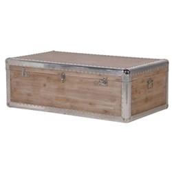 Trunk coffee table, 41 x 65 x 115cm, silver trim
