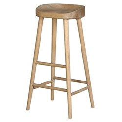 Farmhouse stool, 78 x 42 x 36cm, weathered oak