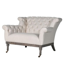 Button back Love seat, 76 x 105 x 89cm, cream