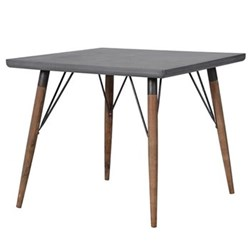 Square dining table, 76 x 90 x 90cm, grey