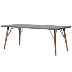 Rectangular dining table, 75.5 x 90 x 200cm, grey