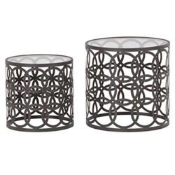 Pair of round nesting tables 50 x 50 / 40 x 40cm