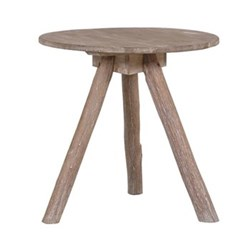 Tripod table, 60 x 60cm, rustic wood
