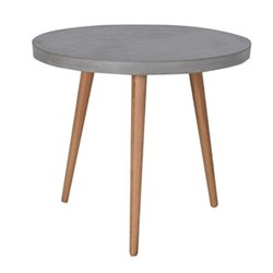 Round dining table, 73 x 82.5cm, concrete top