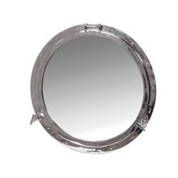 Porthole mirror, 72cm, nickel finish frame