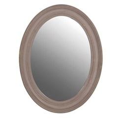 Oval mirror, 87 x 67cm, sand