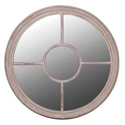Round mirror, 90cm, taupe