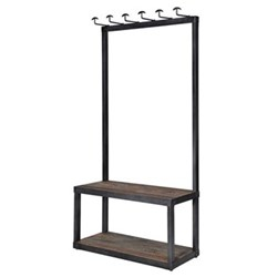 Coat stand with bench, 190 x 93 x 40cm