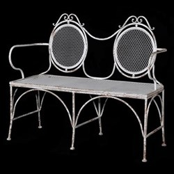Double oval back bench 92 x 110 x 51cm