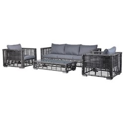 Outdoor rattan set, chair - 80 x 85 x 85cm / coffee table - 305 x 127 x 63cm / sofa - 80 x 210 x 85cm