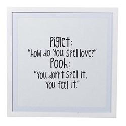 Piglet & Pooh Framed sign, 53 x 53cm