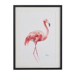Pink Flamingo Picture, 70 x 53 x 50cm
