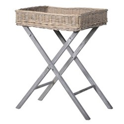 Willow tray on stand, 66 x 50 x 40cm
