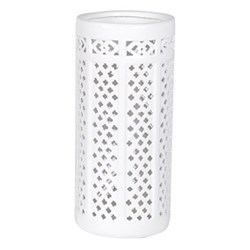 Umbrella stand, 43 x 20cm, white with pierced hole pattern