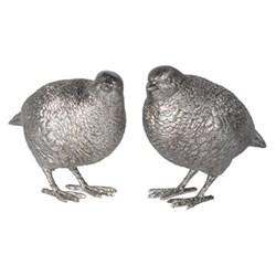Pair of standing quails, 11 x 12 x 7cm