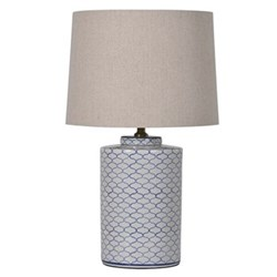 Crackle lamp with shade 66cm