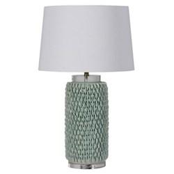 Tall jar lamp with shade, 75cm