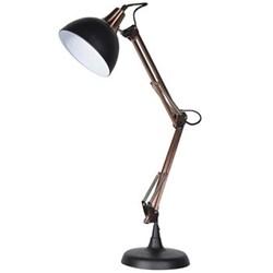 Angled desk lamp, 76 x 20 x 36cm, black and copper