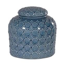 Ginger jar with lid, 31 x 32cm, blue