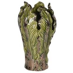 Cabbage Leaf Vase, 35 x 19cm, off-white