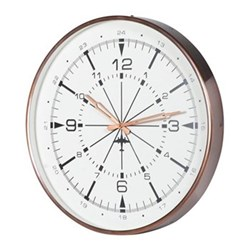 Wall clock, 55 x 44cm, antique copper finish