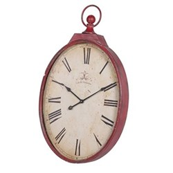Large oval clock 96 x 57cm