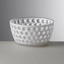 Lente Acrylic salad bowl, 12cm, white