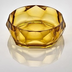 Supernova Acrylic salad bowl, 10cm, amber