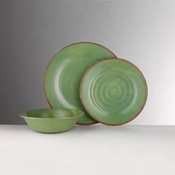 Brunello Melamine plate, 19cm, green