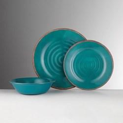 Brunello Melamine plate, 26.5cm, turquoise