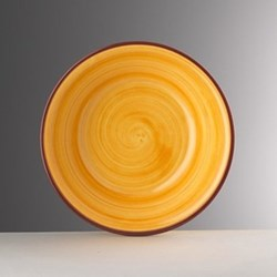 Saint Tropez Melamine plate, 23cm, yellow
