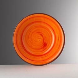 Saint Tropez Melamine plate, 23cm, orange