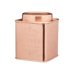 Le'Xpress Coffee tin, copper finish