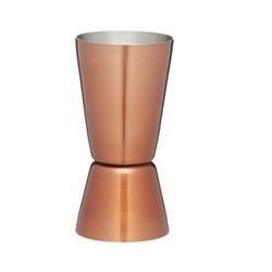 Bar Craft Multi measure cocktail jigger, 25/50ml, copper finish