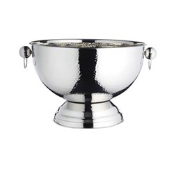 Bar Craft Champagne bowl, 37 x 25cm, hammered stainless steel
