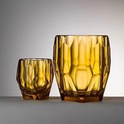 Filippo Acrylic ice bowl, 14.3cm, amber