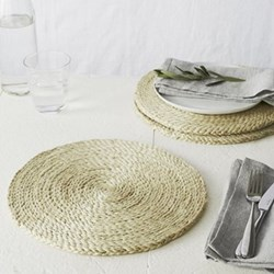 Woven placemat, jute