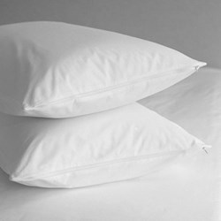 Pair of super king pillow protectors 50 x 90cm