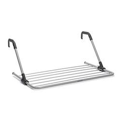 Drying rack, H3.5 x W68 x D44cm, metallic grey