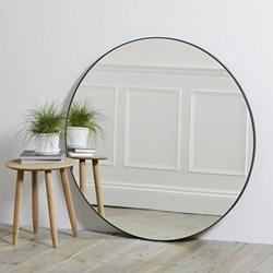 Chiltern Round mirror, D101cm, black