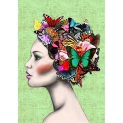 Example Artwork Butterfly Girl by Ellie Vandoorne, 42 x 59.4cm