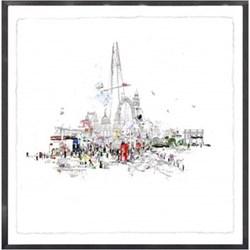 Example Artwork Crazy Town by Laura Jordan, 113 x 113 x 7cm