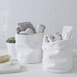 Folded cuff storage set, white