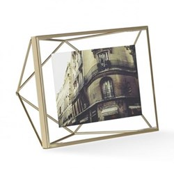 Prisma Photo frame, 4 x 6'', matte brass