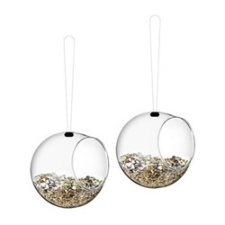 Mini bird feeders, 2 pcs H11 x W12cm