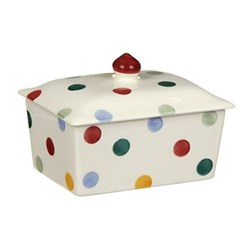 Polka Dot Butter dish, small