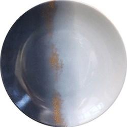 Horizon Dinner plate, 26.5cm, bleu ardoise and 24 carat gold