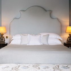 King size duvet cover and pillowcase set, white with white cord